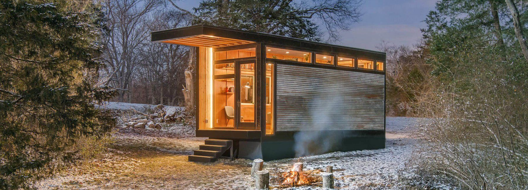 a tiny prefab cabin for cases of
