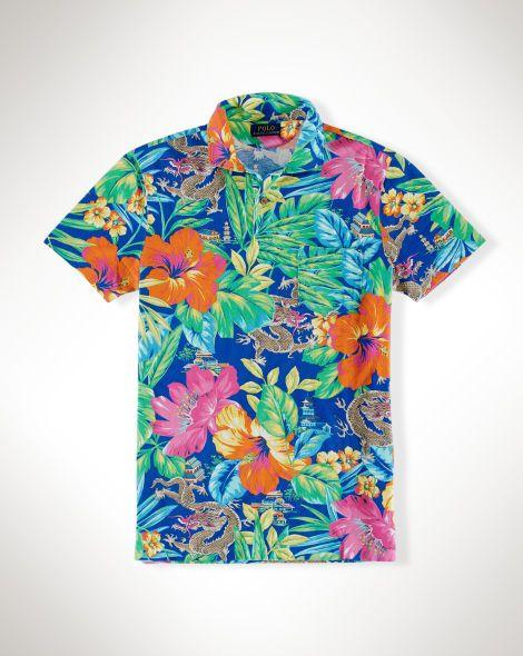 Shirt Standard Lauren Polo Featherweight Fit Tropical Ralph O0Pnwk