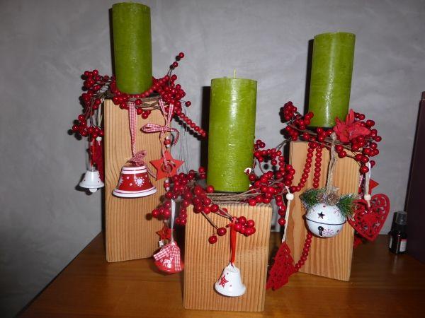 DIY: Kerzenständer oder Adventskranz aus Holz selber bauen ...