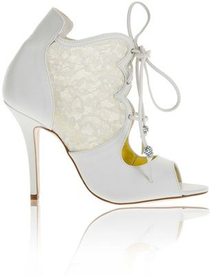 Buy Next White Leather Flower Bridal Stilettos online
