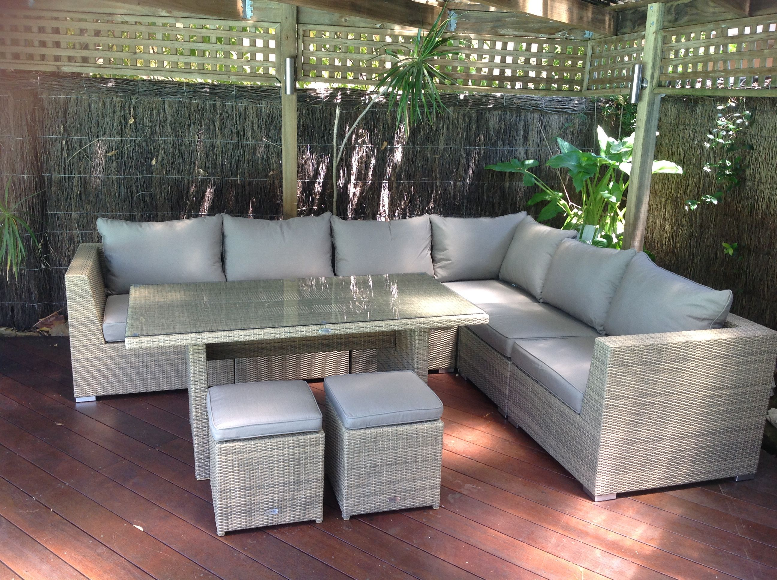 Outdoor Lounge Sets Newport 11 Piece Outdoor Dining Setting