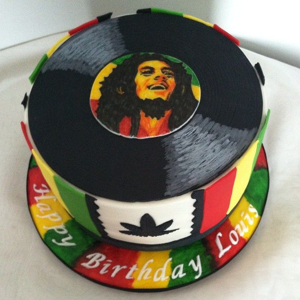 Awe Inspiring A Hand Painted Bob Marley Birthday Cake Bobmarley Bobmarleycake Funny Birthday Cards Online Elaedamsfinfo
