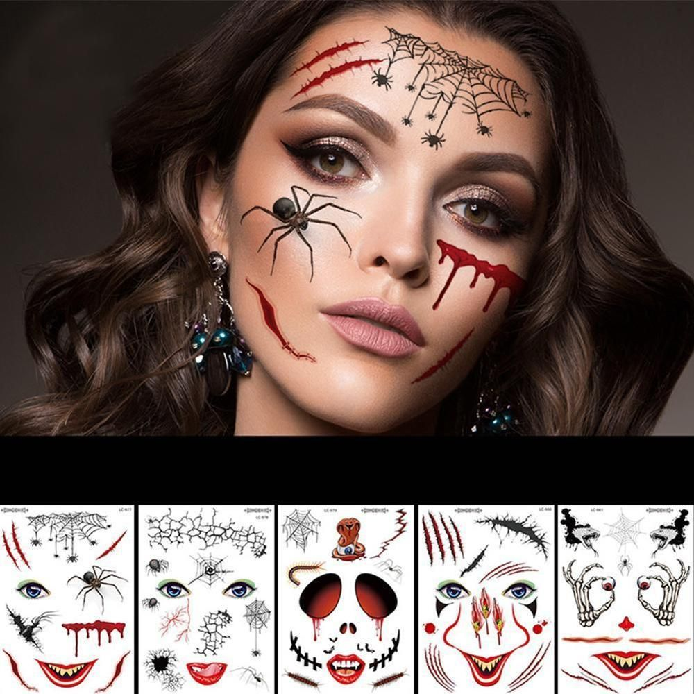 9 Style New Halloween Holiday Face Makeup and Terror