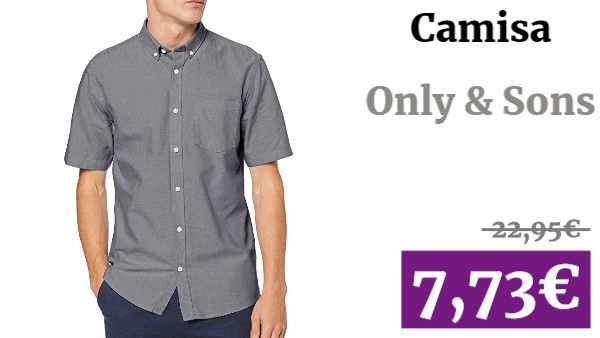 Only /& Sons Camisa Casual para Hombre