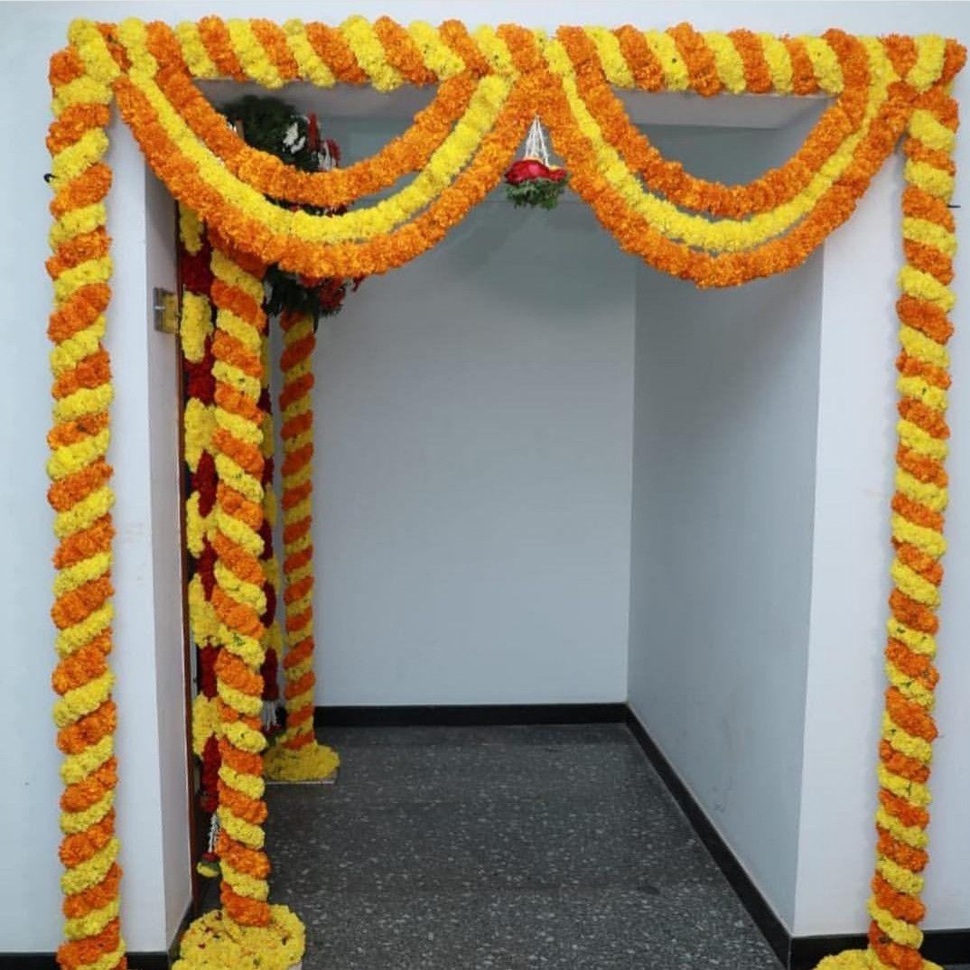 Marigold Decoration Housewarming Decorations Ganpati Decoration
