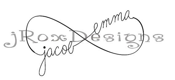 Custom Infinity Tattoo Design With Personalization Pinterest