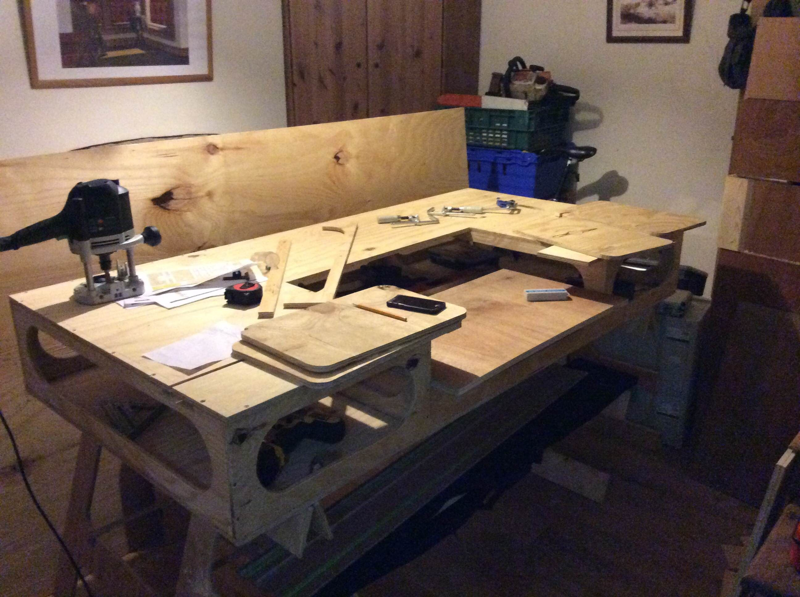 Table De Travail Atelier Workbench Built By Scott Workshop Pinterest Atelier