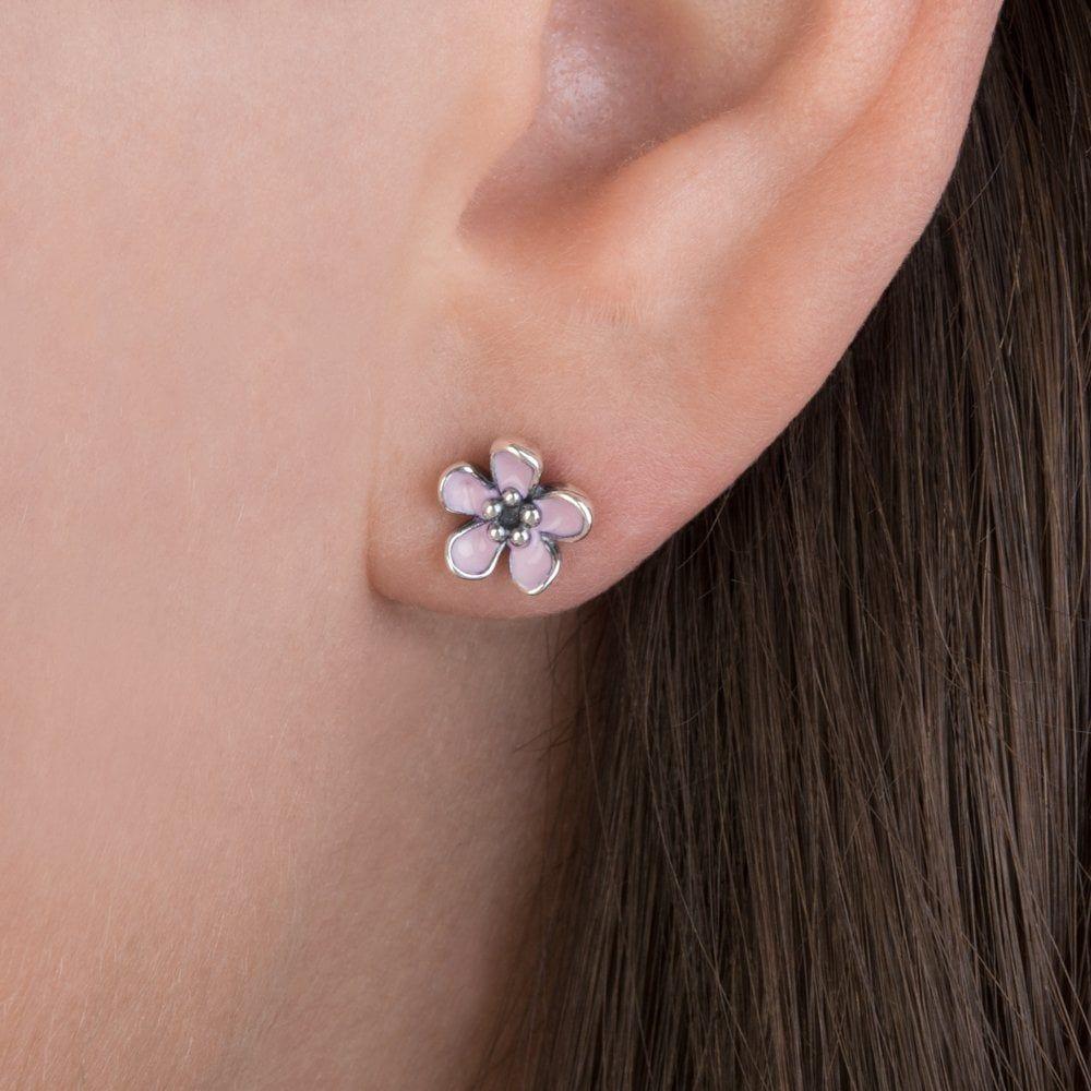 Pandora Pink Flower Earring Neoteric Pandora Pink Flower Earring 57 For Pandora Bracelet Collection With Pandor Pandora Earrings Pandora Jewelry Pandora Pink