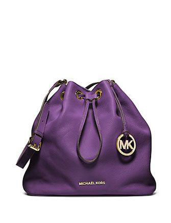 bc73c900c80c MICHAEL MICHAEL KORS MK Large Jules Pebbled Leather Drawstring Shoulder Bag