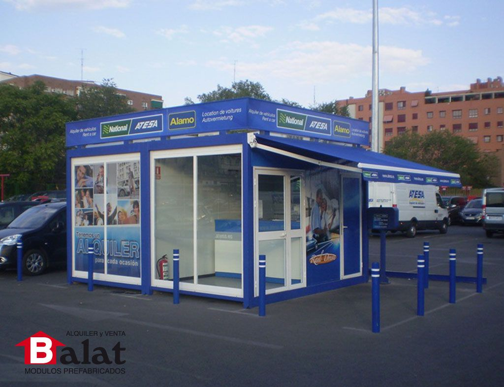 oficina modular caseta de vigilancia para atesa madrid