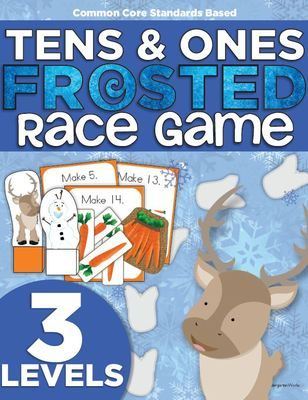 Frosted Race Game | Kindergarten | Composing Numbers to 19 | Common Core | Place Value from KindergartenWorks on TeachersNotebook.com