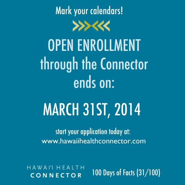 Day 31 Aca Fact Open Enrollment Through The Connector Ends On