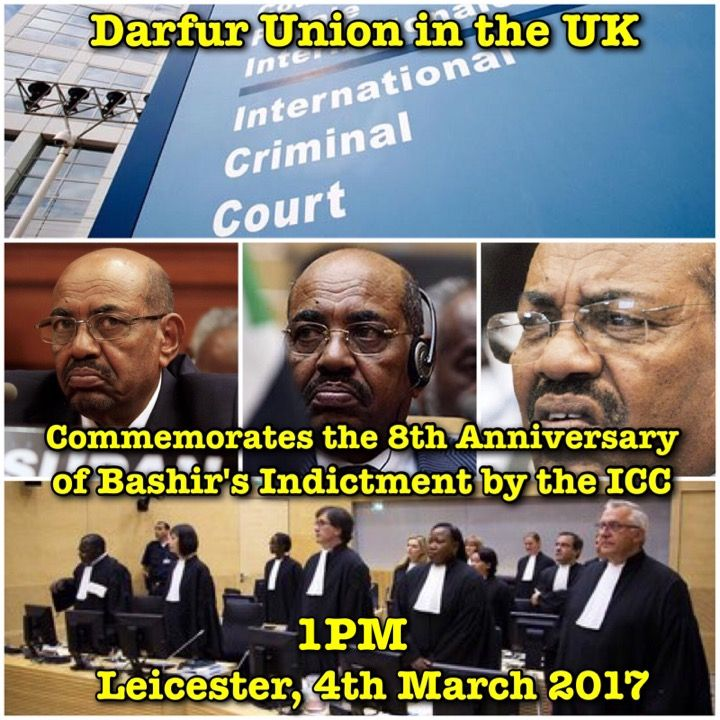 Darfur Union In the UK Commemorates the 8th Anniversary of Bashir Indictment by International Criminal Court (ICC) in  Leicester