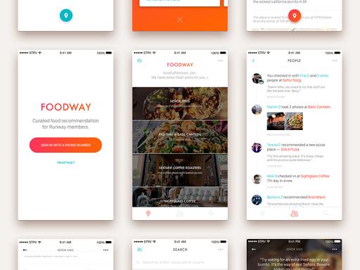 Foodway Curated Food Recommendation Mobile Web Design App Design Web Design Tips