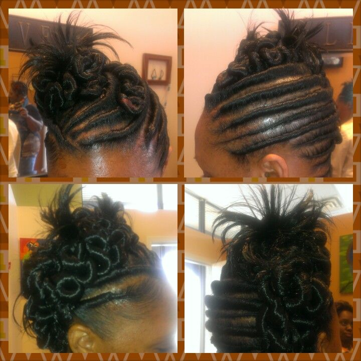stuffed twist flat updo