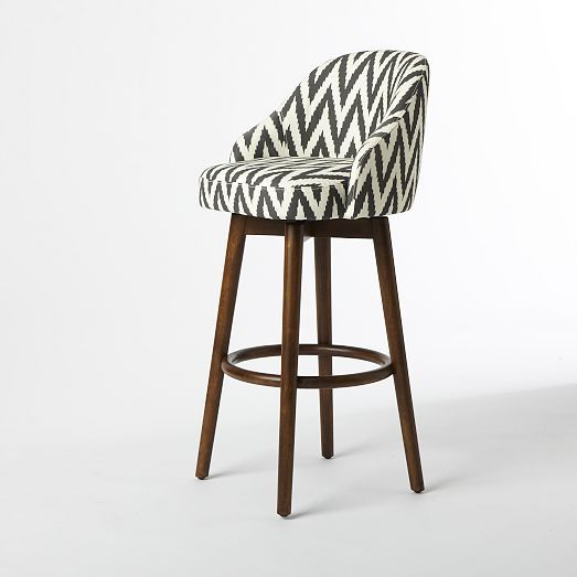 Saddle Bar + Counter Stool - Slate | west elm | Furniture | Pinterest