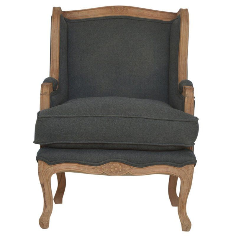 Foam Arm Chair Navy Blue Squared Arms Solid Wood Living Room Amazing Wooden Living Room Chairs Decorating Design