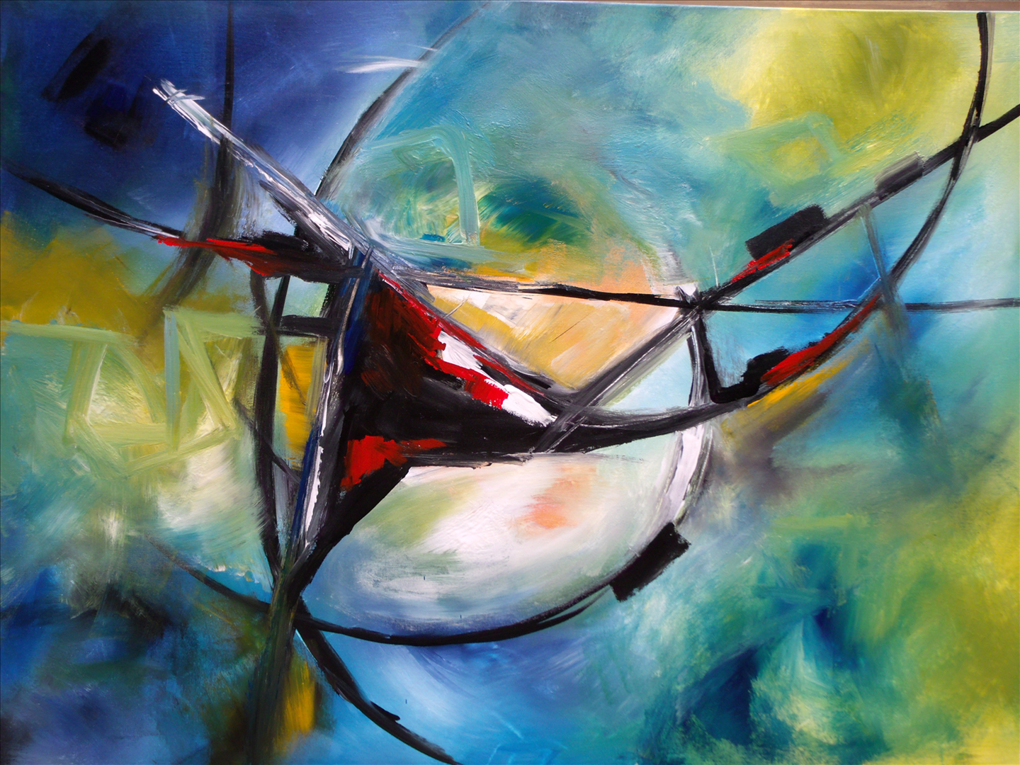 Jane Robinson Abstract Painting, Artwork | Bunt