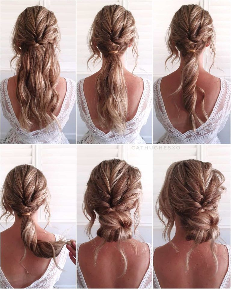 Simple And Pretty Diy Updo Hairstyle Tutorials For Wedding Guest Romantic Updo Hairstyles Tutorials Easy Hairstyles For Long Hair Long Hair Styles
