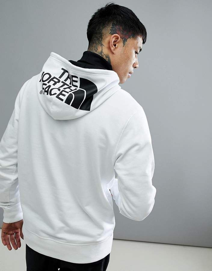 285189b49dc4e The North Face Seasonal Drew Peak Logo Hoodie Lightweight In White ...