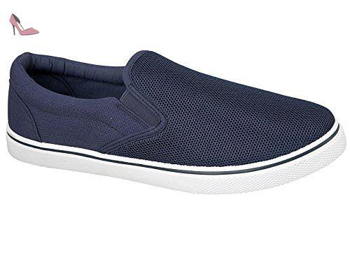 Foster Footwear , Baskets mode pour homme blanc bleu