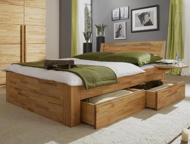 Schlafzimmer-komplett-massivholz-ein-Bett-aus-Holz-ist ...