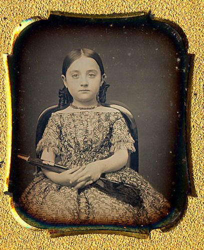 1-6-Daguerreotype-of-beautiful-young-lady-with-bottle-curls-and-a-parasol