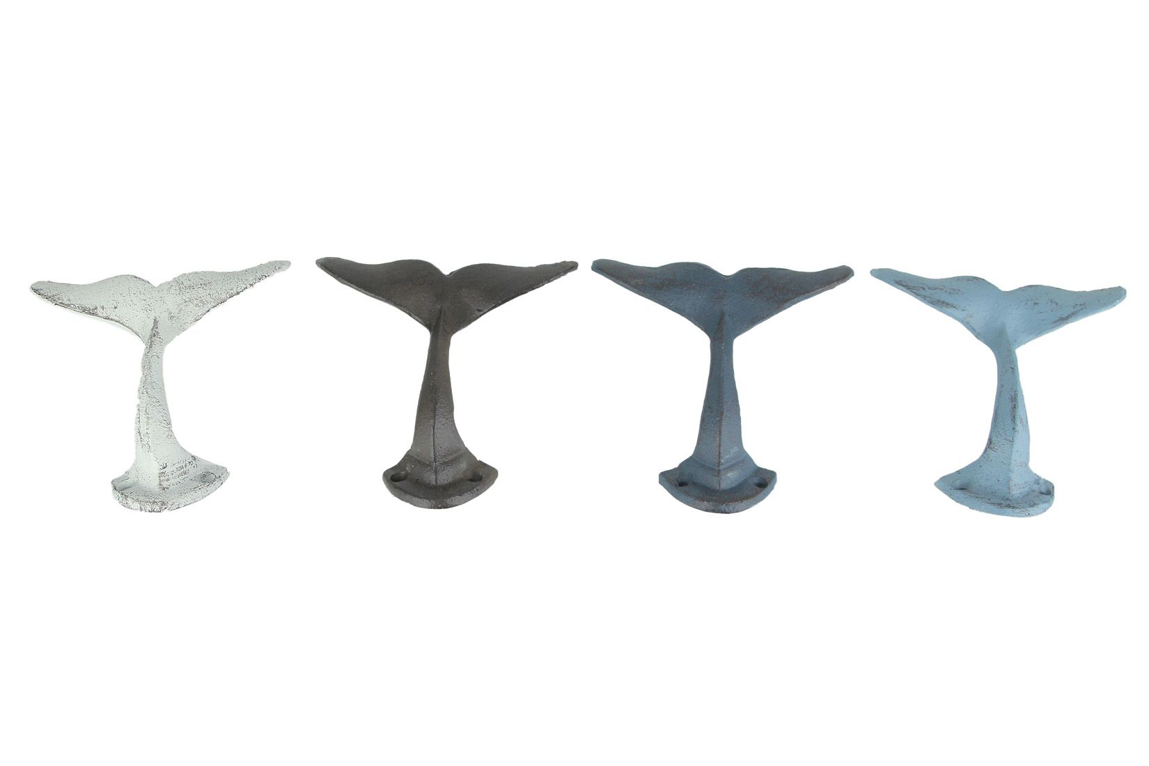 Colorful Cast Iron Whale Tail Wall Hooks Set Of 4 Walmart Com In 2021 Metal Coat Hangers Rustic Whale Galvanized Metal Wall