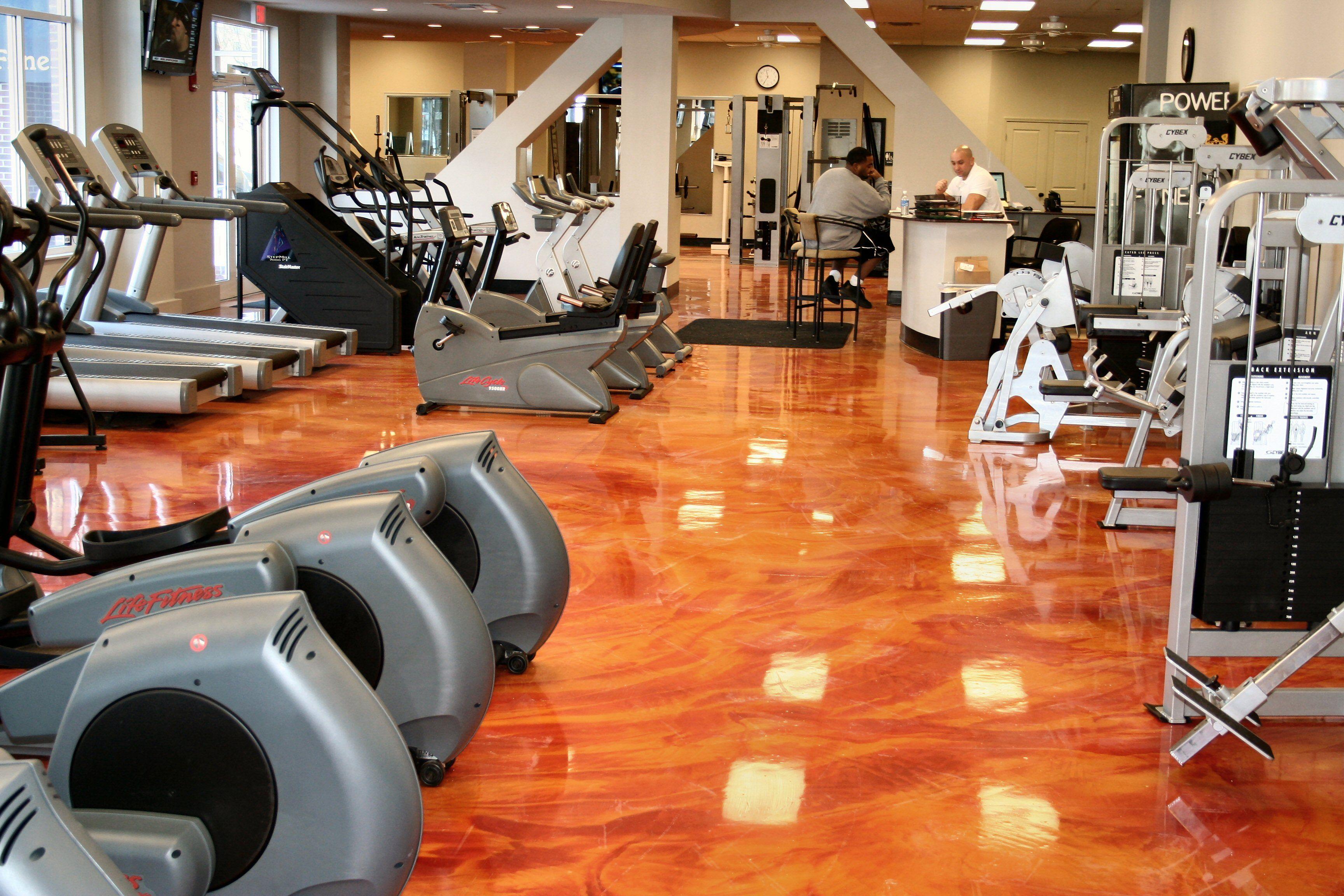 Visit Www Floorskinz Com For More Information Metallic Epoxy Gym Floor Gym Flooring Concrete Floors Flooring