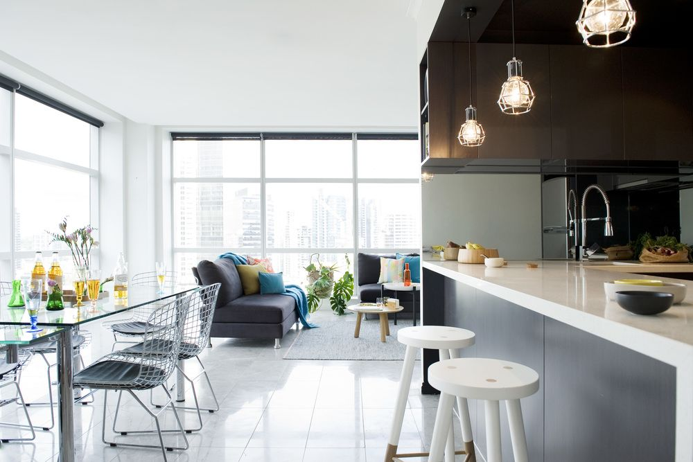 Kitchen At William Street Apartment Interior Design By Katherine Wills Image Devika Bilimoria House Stockholm Lamp Domino