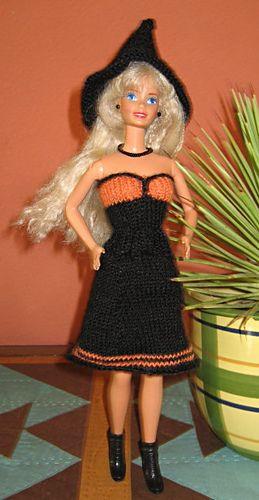 Ravelry: #0918 Black and Orange Dress pattern by stickatillbarbie.se