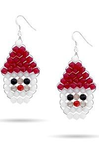 Swarovski Christmas Holiday Kits – Santa Earrings