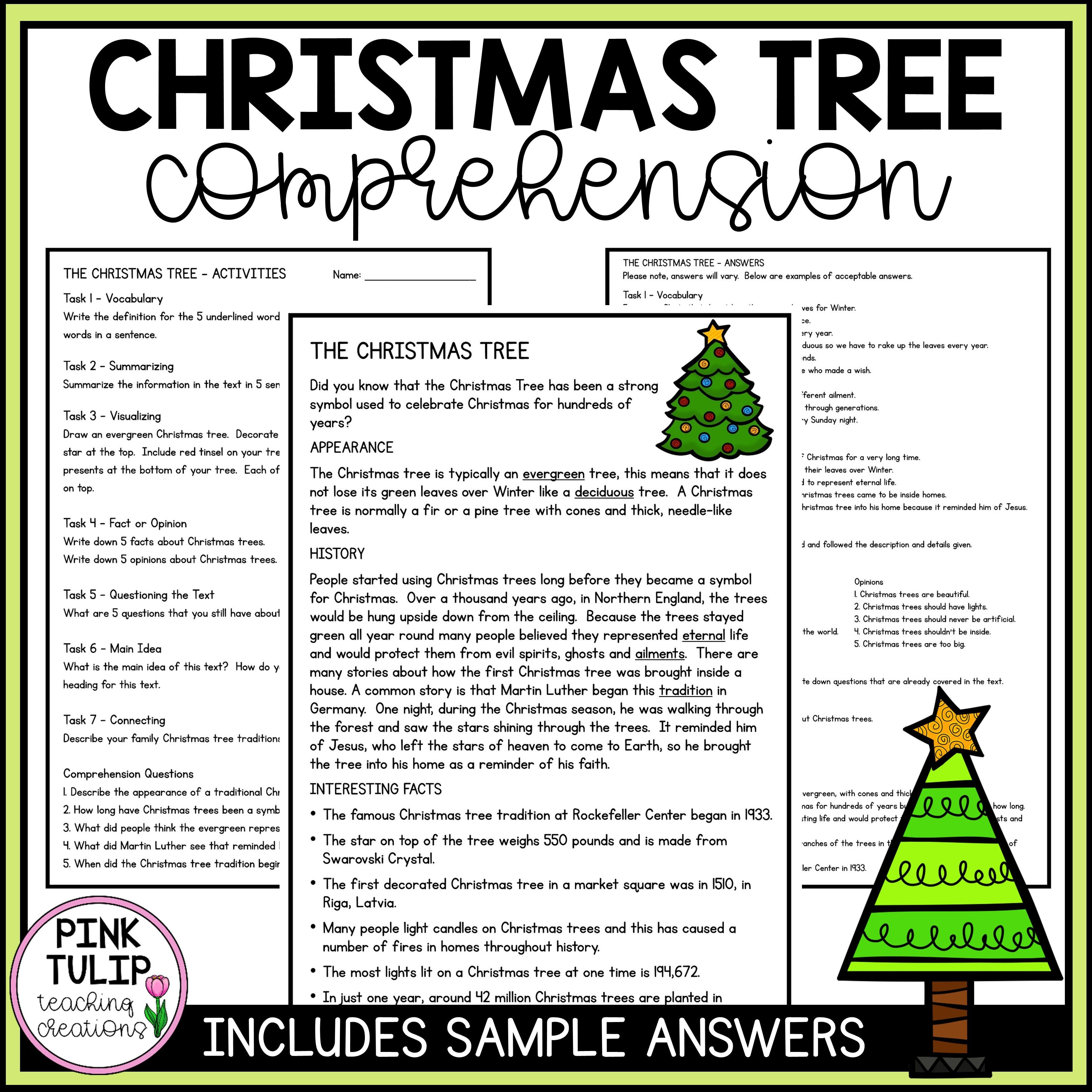 Christmas Reading Comprehension Worksheets Printable Workshe In 2021 Christmas Reading Comprehension Reading Comprehension Resources Reading Comprehension Worksheets Christmas comprehension worksheets 5th