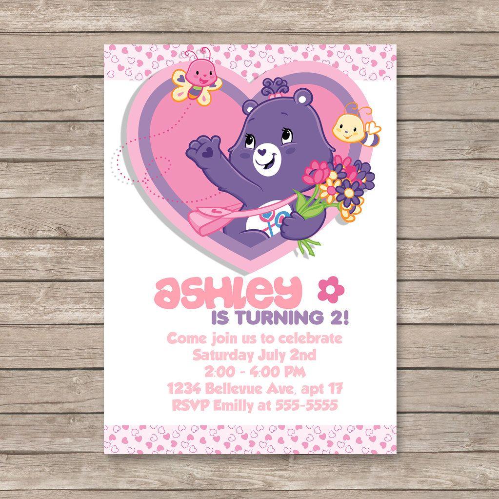 Care bears birthday invitations digital printable file bear care bears birthday invitations digital printable file bear girl heart flowers 999 monicamarmolfo Choice Image