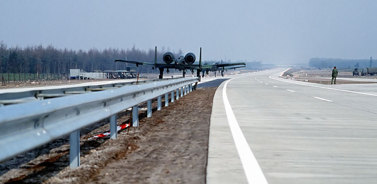 Image result for 1984: The Autobahn Airfield – A10s, Hercules' and Fighters Land On A Highway (Watch)