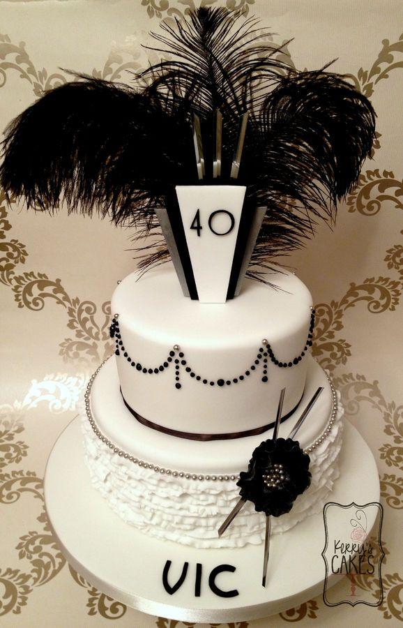 Art Deco Themed Cake : Art Deco style birthday cake. The birthday girl was having ...