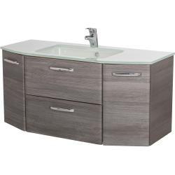 Photo of calmo2go glass washbasin – white – 112 cm – 1.5 cm – 48 cm – cupboards> bathroom cupboards> wash basins