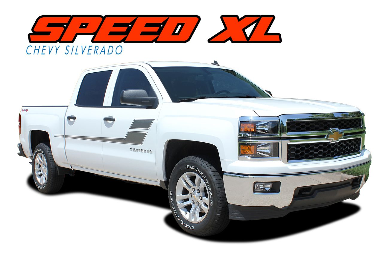 SPEED XL  2007-2018 Chevy Silverado GMC Sierra Hockey Side Door Vinyl Graphic Decal Stripe Kit  sc 1 st  Pinterest & SPEED XL : 2007-2018 Chevy Silverado GMC Sierra Hockey Side Door ...