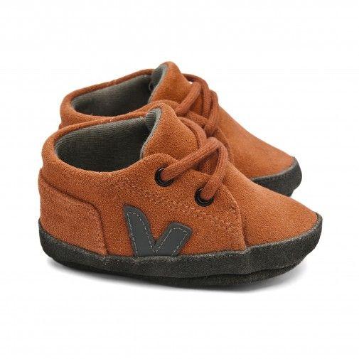 Veja # Veja Brick Orange Leather Baby Shoes Baby clothing
