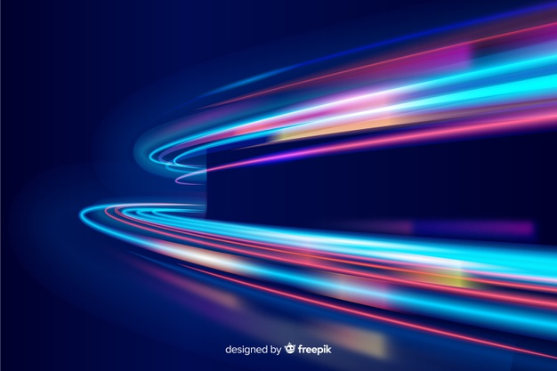 Colorful Neon Wavy Light Trail Background Vector Free Download Light Trails Neon Backgrounds Geometric Background