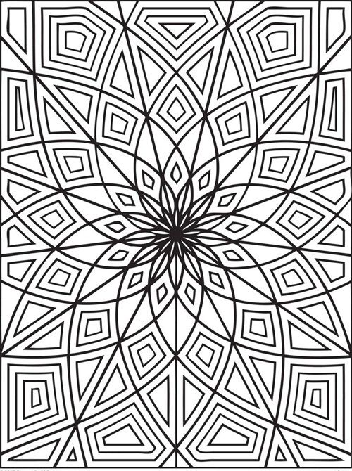 Fonte: Pinterest Para Colorir Abstract Coloring Pages, Geometric Coloring  Pages, Detailed Coloring Pages