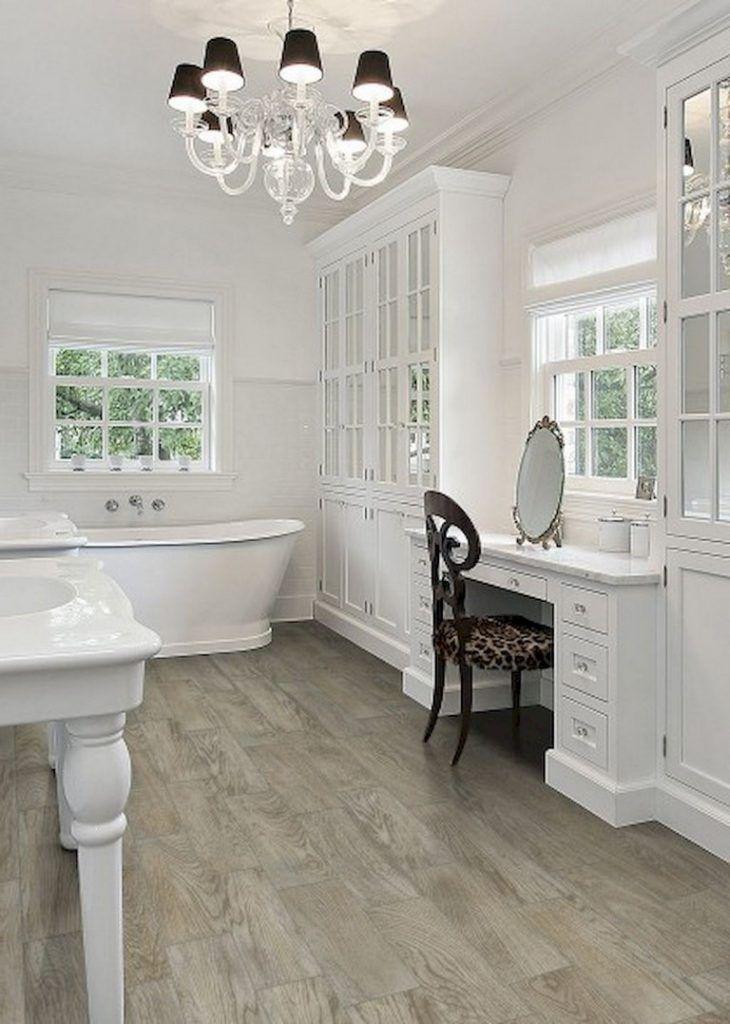 47 awesome farmhouse bathroom tile floor decor ideas and