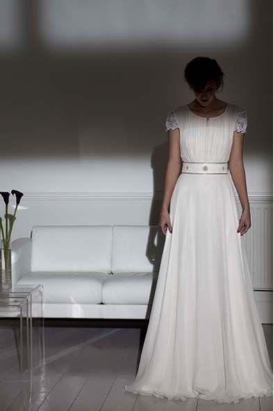 Edie - 1940s vintage inspired wedding dress - Charlotte Casadéjus ...