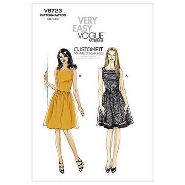 Vogue V8723 Misses Dress Spotlight Australia Spotlight