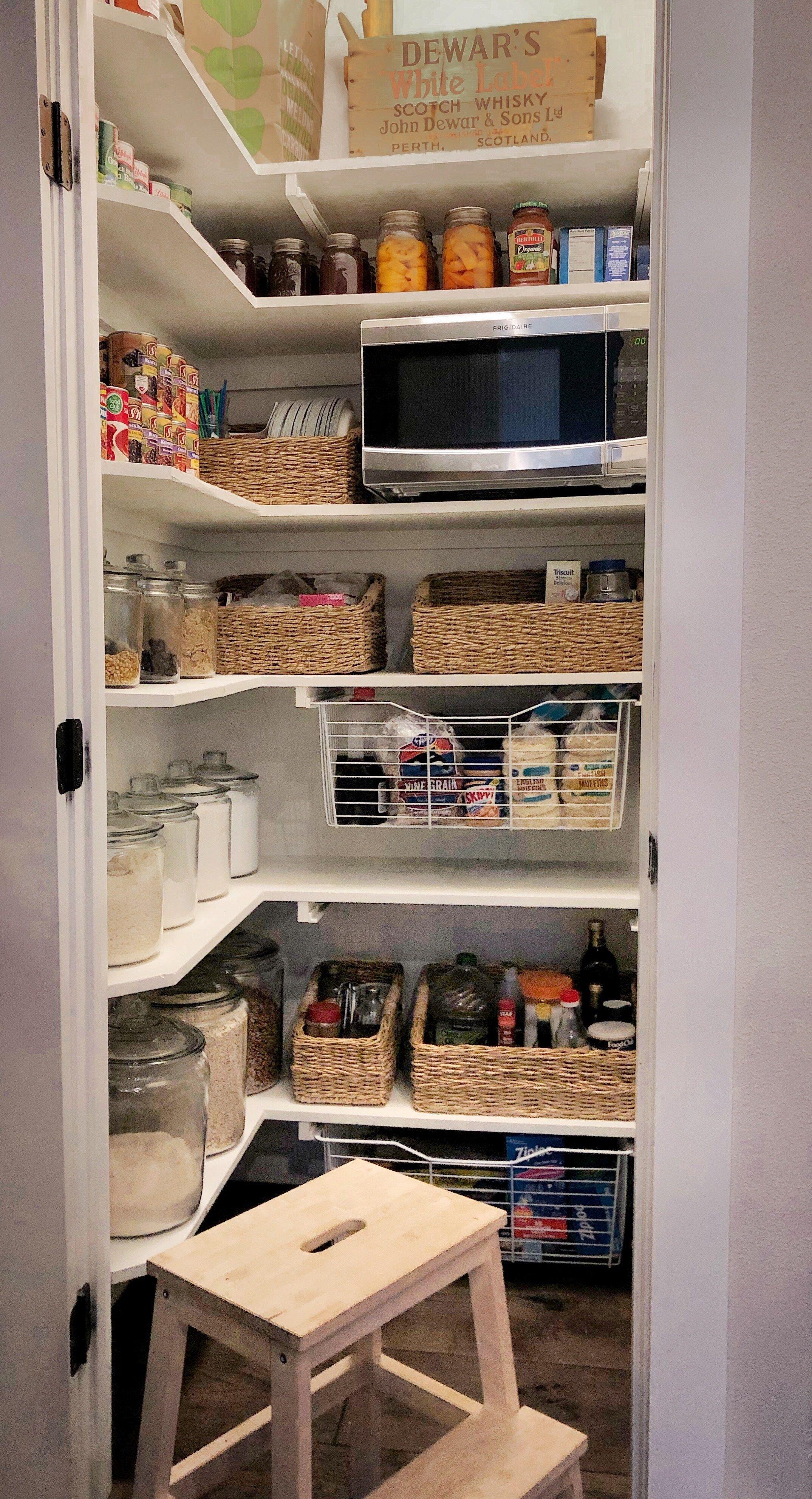 small pantry organization kitchen pantry design small pantry organization pantry remodel on kitchen organization small space id=93150
