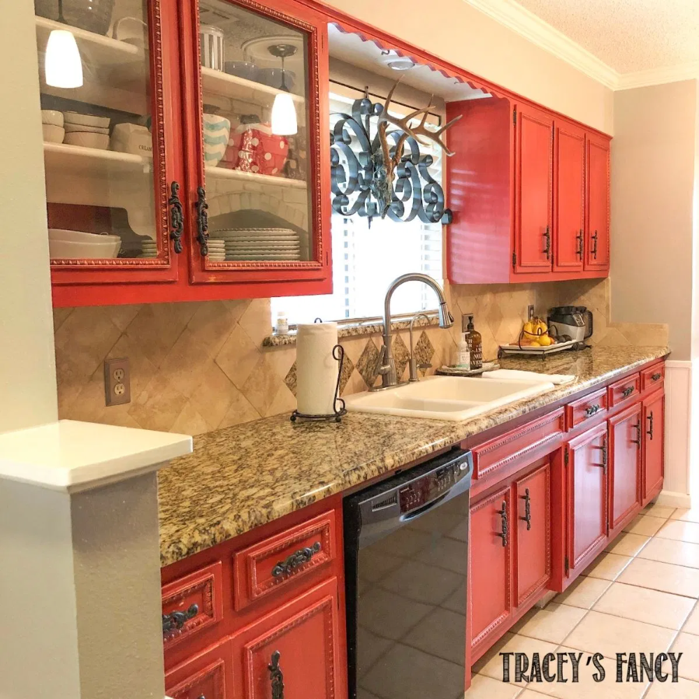 Painting kitchen cabinets with chalk paint - Tracey's ...