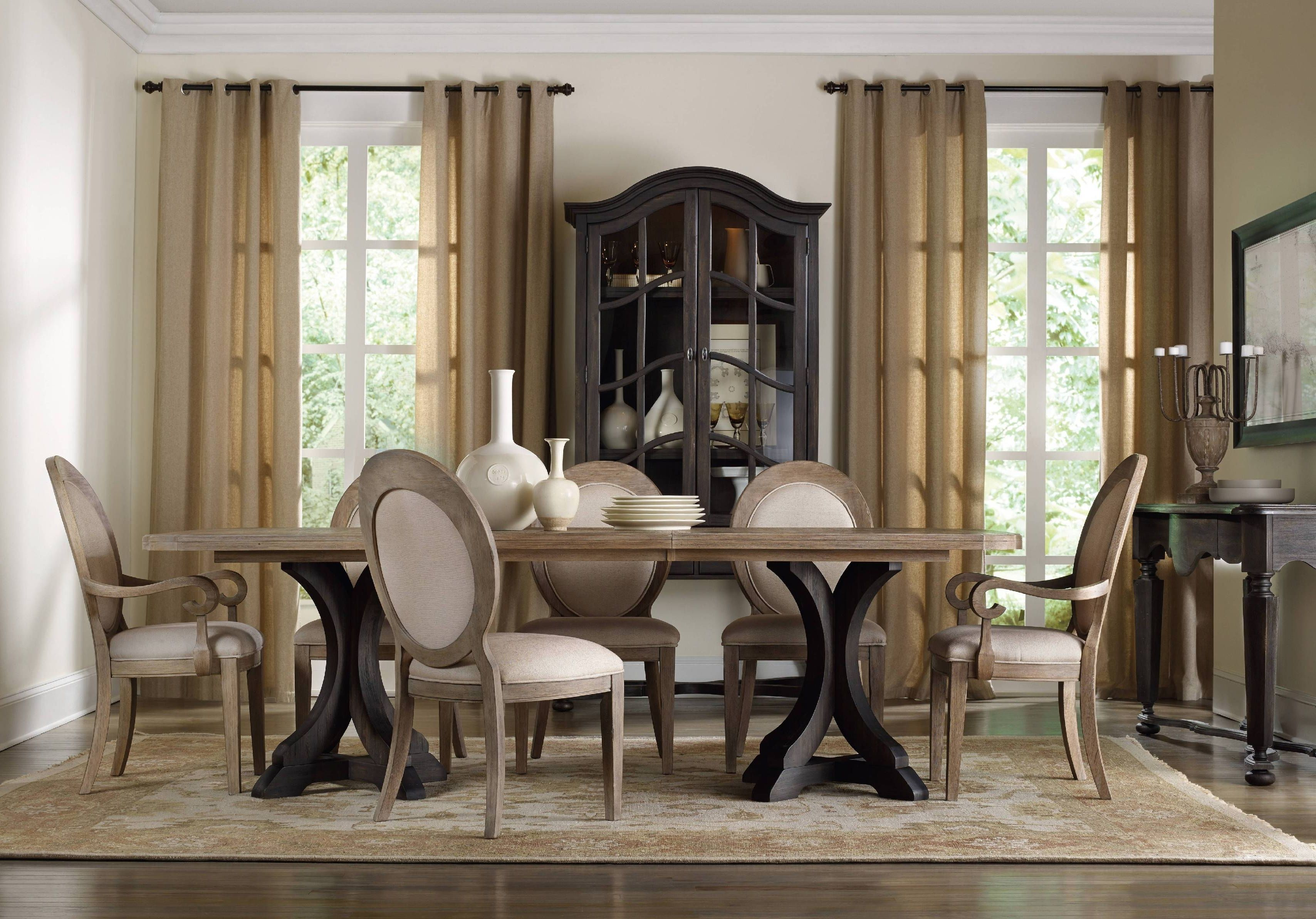 Light Dining Chairs With Dark Dining Table Side Chairs Dining Dining Room Sets Upholstered Dining Chairs