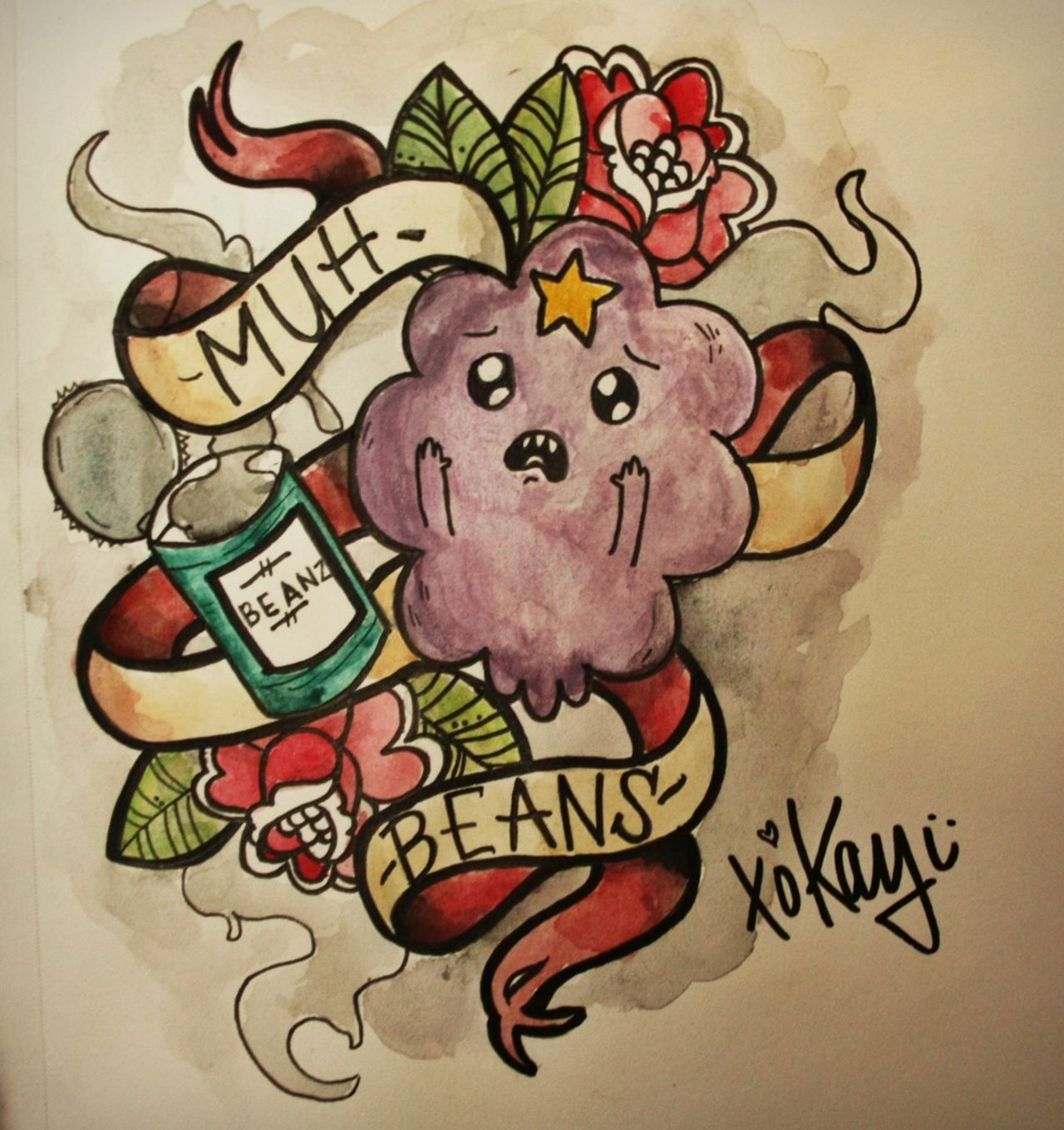 Adventure Time Lsp With Her Beans Tattoo Style