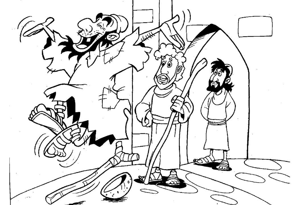 Peter Lame Man Healed Leaping And Praising God Children's Rhpinterest: Bible Coloring Pages Peter And John At Baymontmadison.com