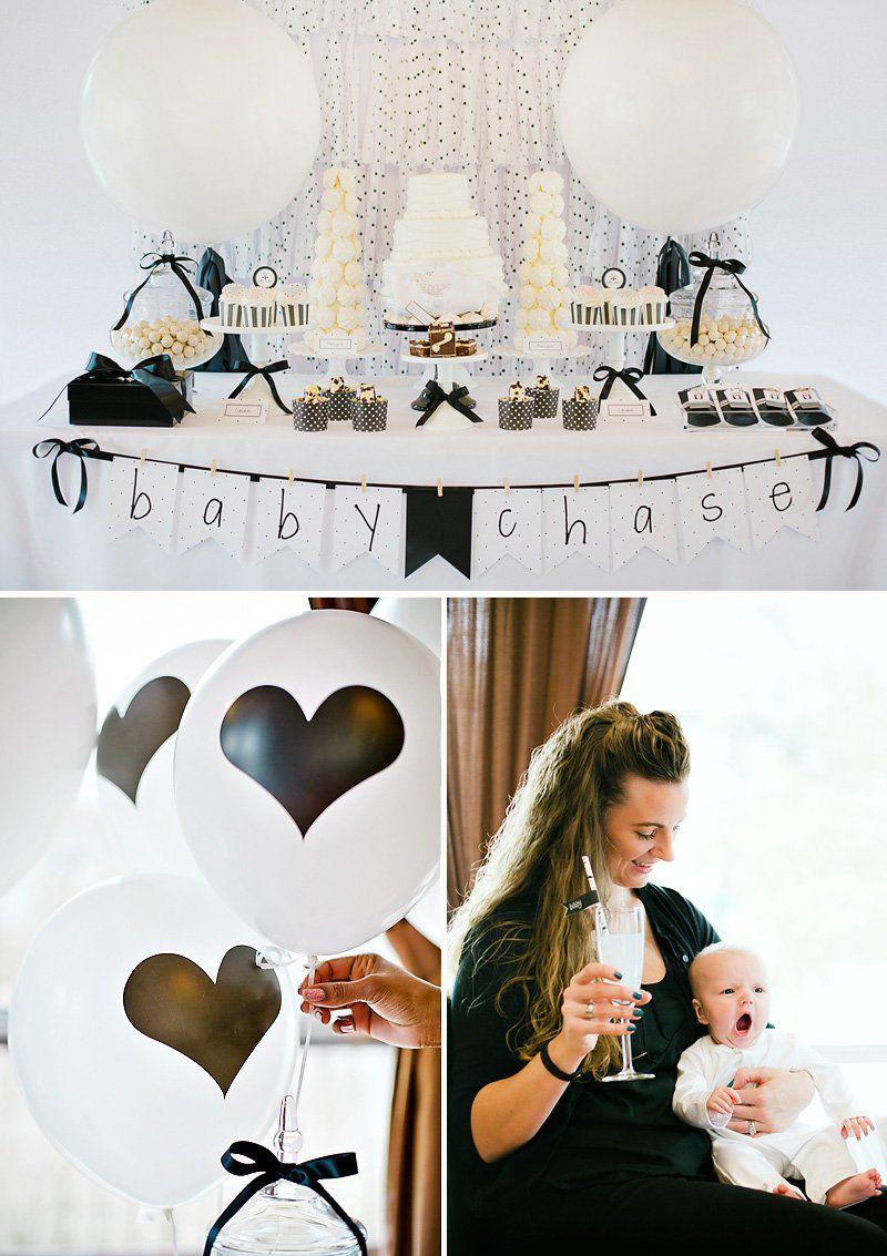 Wonderful Modern Black U0026 White Baby Shower Ish Celebration